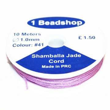 Purple 41 10 Metres x 1.0mm Jade Cord JSC-10-1.0-41 / S.B